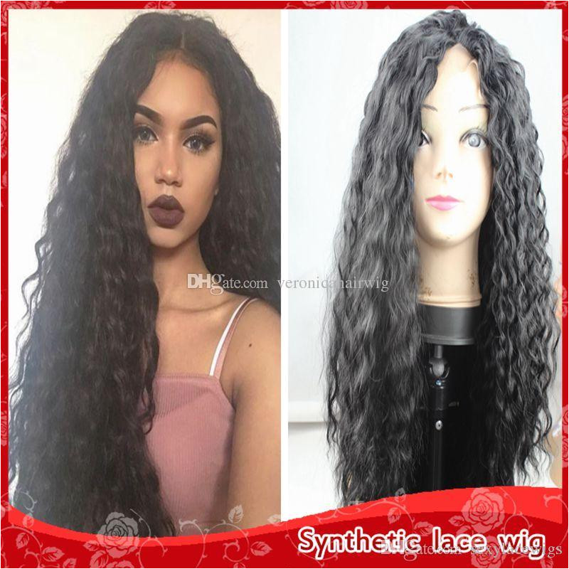 Black Hairstyles Lace Front Wigs New Y Black Kinky Curly Hair Heat Resistant Glueless Brazilian