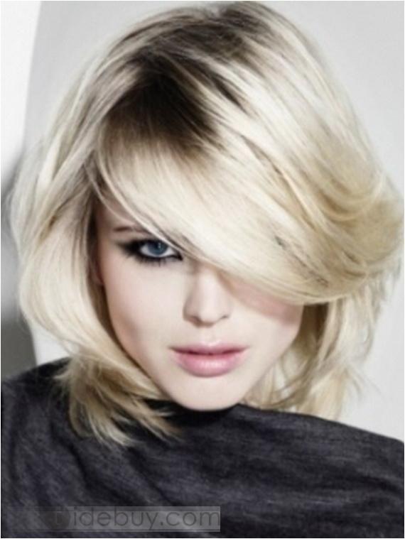 2012 New Arrival Charming Two Tones Pale Blonde Medium Straight about 10 Inches Human Hair
