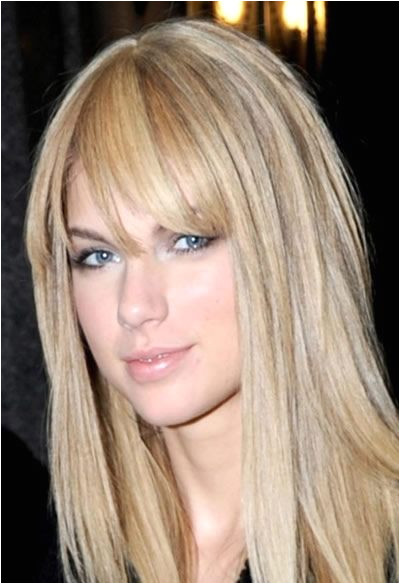 Taylor Swift hairstyles with bangs 2012