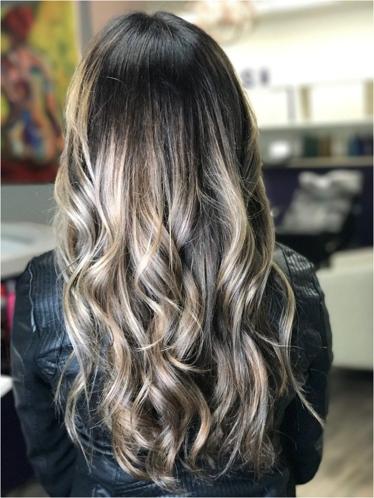 Ash Blonde Balayage dark root I Love it