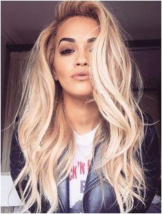 Rita Ora always proving how gorgeous blonde hair pairs with brown eyes Love this