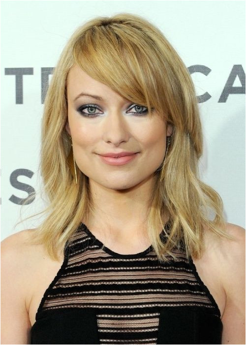Blonde Hairstyles Side Fringe Square Shaped Face Blonde Bob Olivia Wilde Hairstyle Fresh and