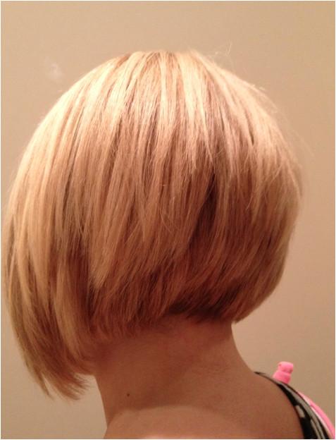 Short Blonde Shaggy Bob Haircut Back View