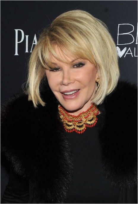 Short Blonde Bob Haircut for Older Women Over 70 Joan Rivers Bob Hairstyles