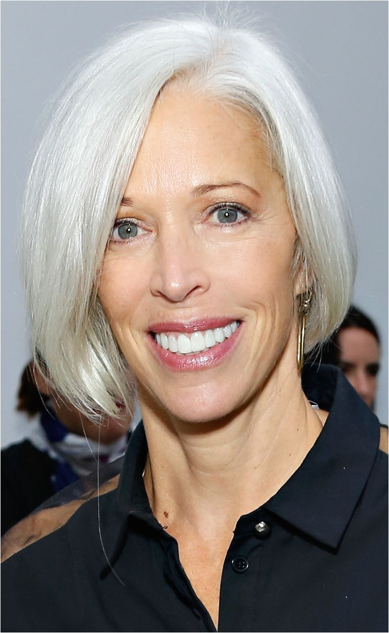 Linda Fargo with a bob hairstyle
