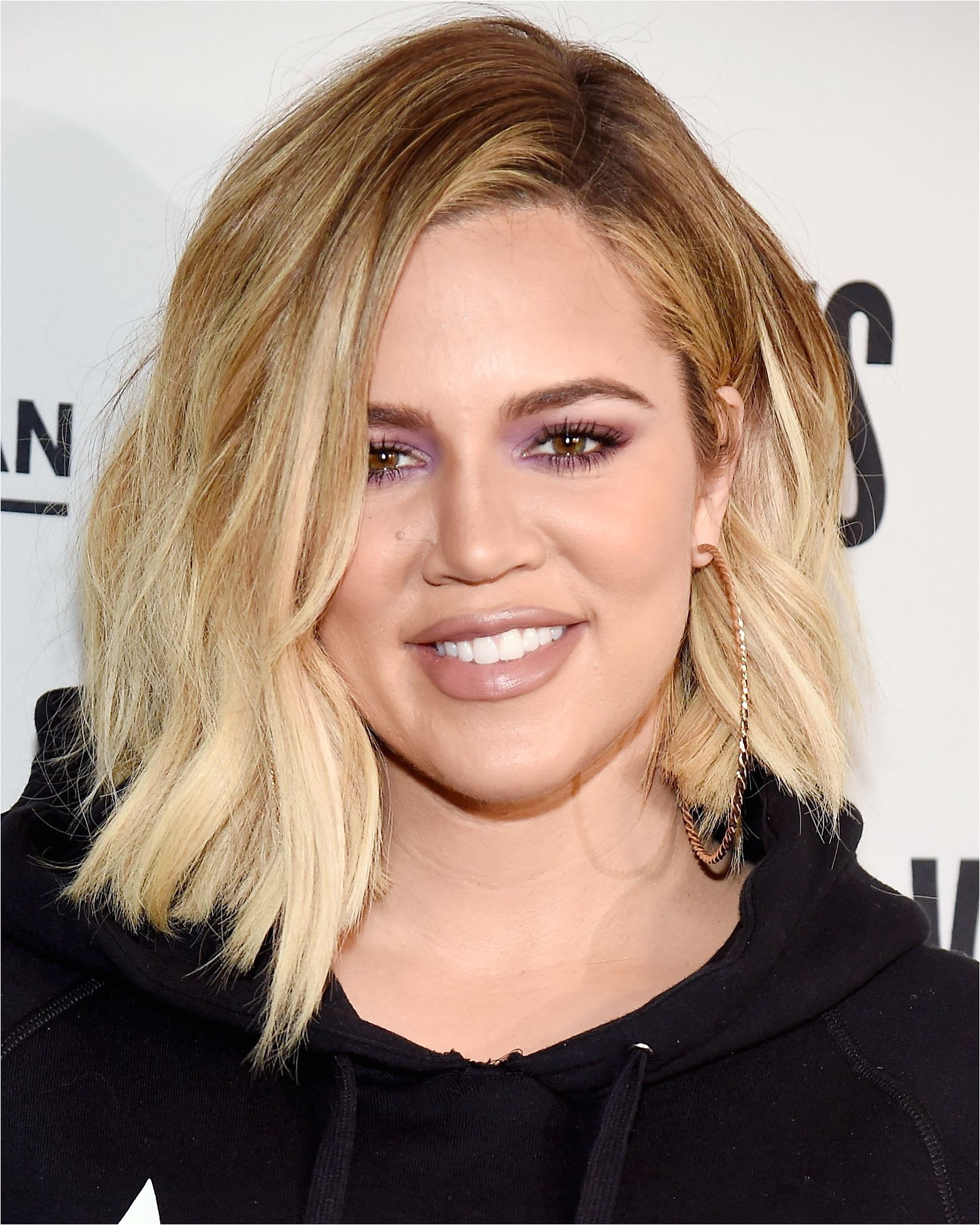 The Best Celebrity Lob Haircuts of 2017 Khloé Kardashian from InStyle