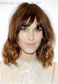wavy lob with bangs Google Search Lob With Bangs Dip Dye Hair Dip