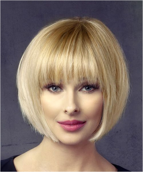 Short Bob Hairstyle Straight Formal Light Blonde