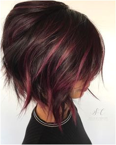 Burgundy And Brown Colored Cut Color Short Hair Short Hair Color Highlights Short