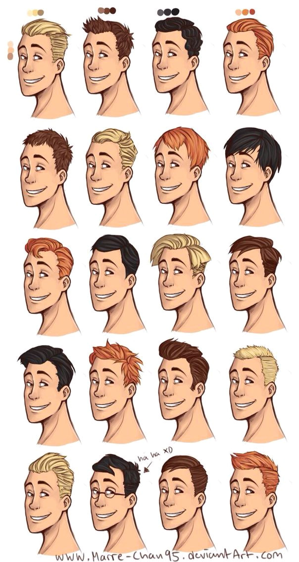 Male hairstyles drawing Drawing hair