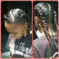 Image result for african american french braid styles with short hair