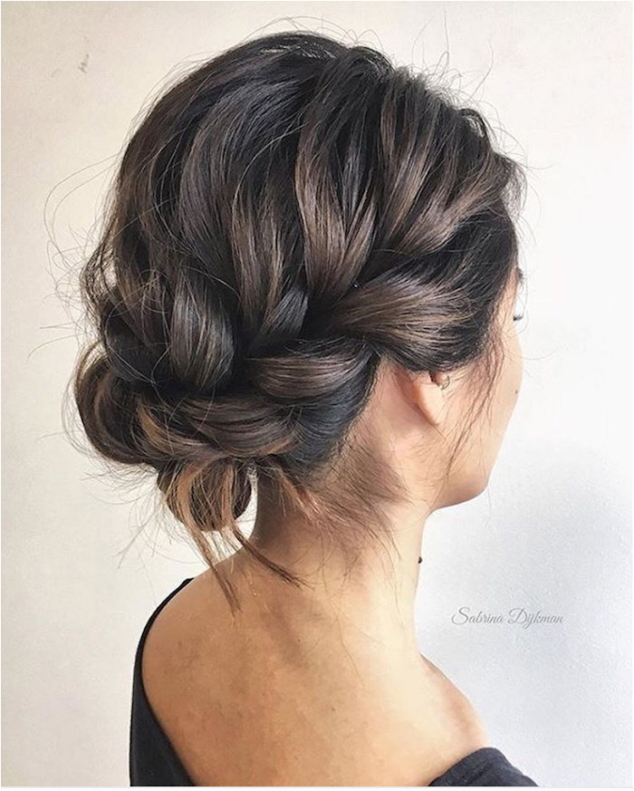 Gorgeous messy wedding updos 2 Braided Crown Braided Updo Braided Upstyles Braided Hairstyles