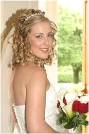 half up half down wedding hairstyles with tiara and veil Google Search Wedding Hairstyles Half