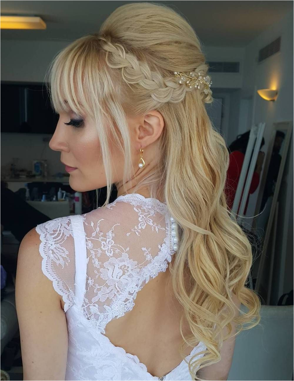 Are you looking for Half Up Half Down Wedding Hairstyles See our collection full of Half Up Half Down Wedding Hairstyles and inspired
