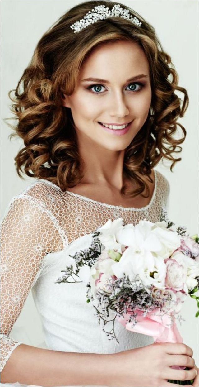 wedding hairstyles with tiara Bridal Tiaras Hairstyle • Updo • Half Up • Short Hair • With Hair Down • Curls • With Veil