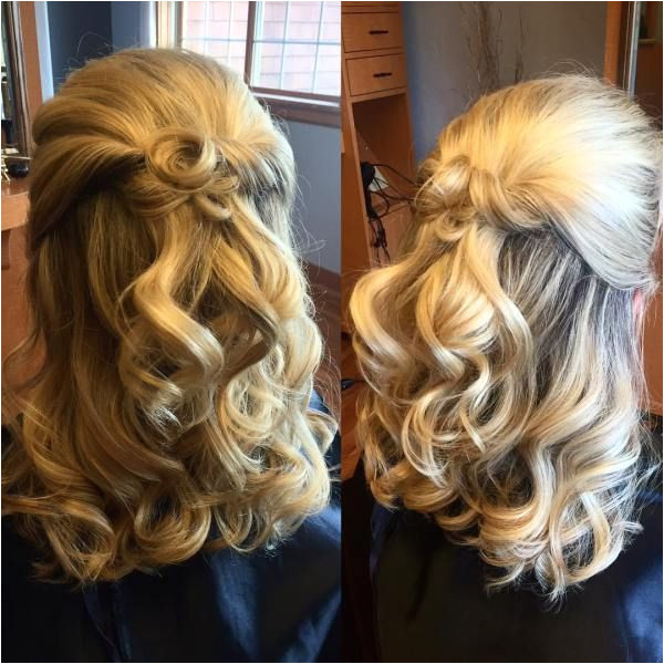 Formal Curly Half Updo Formal Curly Half Updo Wedding Hairstyles