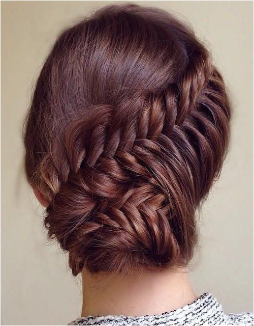 Cute Prom Updo Hairstyles 2015 Ideas Lovely prom updo hairstyle 2015 with fishtail braid and
