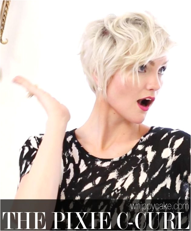 How to Style a Pixie Hairstyle The C Curl