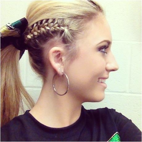 Updo Hair Ideas Cheerleader Hairstyles Pinterest