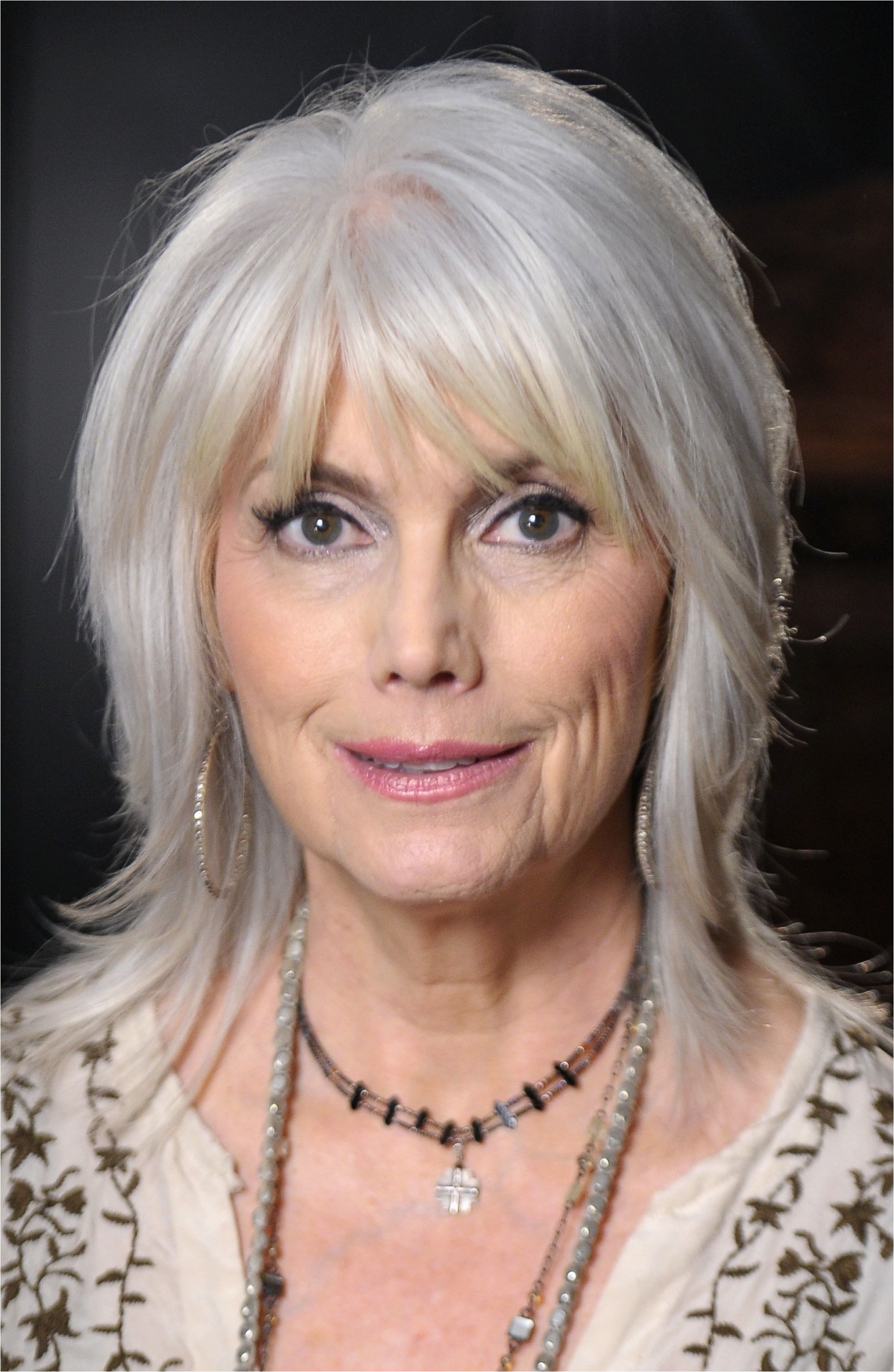 26 of the Most Amazing Shag Hairstyles Emmylou Harris Another example of an older woman with a shag hairstyle
