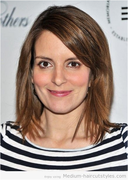 Chin Length Hairstyles for Fine Straight Hair Medium Straight Hair Styles Tina Fey Haircut Hair Styles