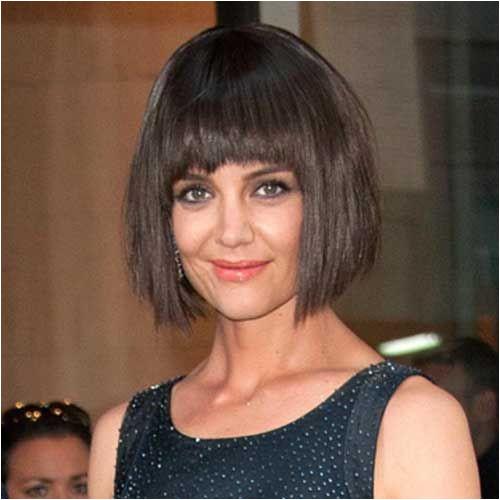Katie Holmes Shaggy Bob Haircut