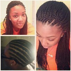 Crocheted Senegalese twists I did not pre twist the hair