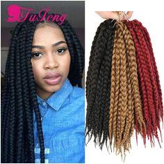 Top crochet braids box braids hair crochet twist xpression braiding hair synthetic havana mambo twist box braids extensions
