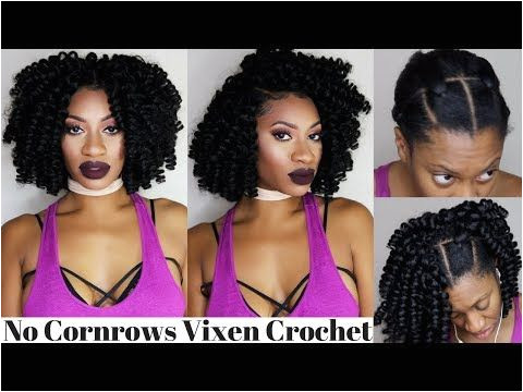 Crochet Hairstyles without Cornrows 3 Part Vixen Braidless Crochet Flip Over Method No Cornrows No