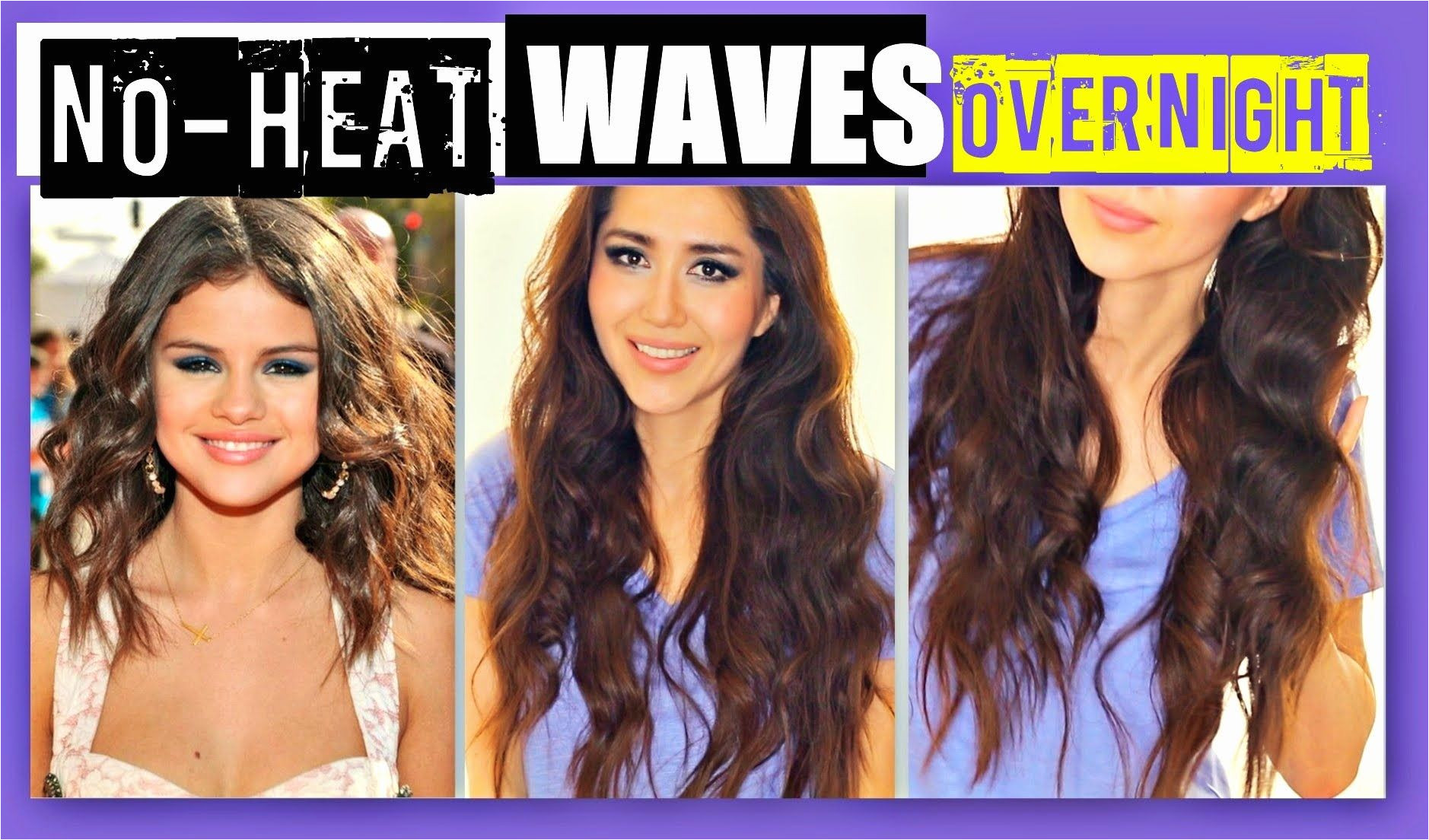 Learn how to recreate Selena Gomez s edgy beach waves hairstyle with this no heat curls overnight hair tutorial for short medium or long hair
