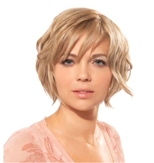 Short Wavy Haircuts For Square Faces