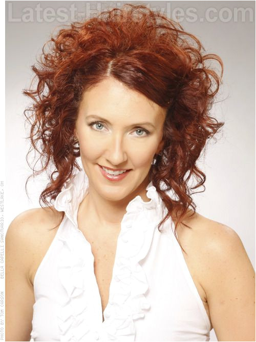 Curl Up So High Red Curly Style Diane Hayes