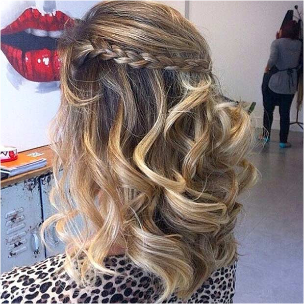 Curly Voluminous Hair for Prom