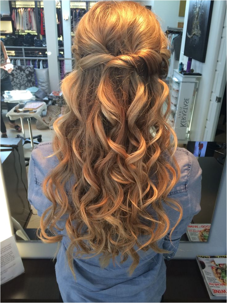 Prom hairstyles for long hair half up half down with the best prom hairstyles 13