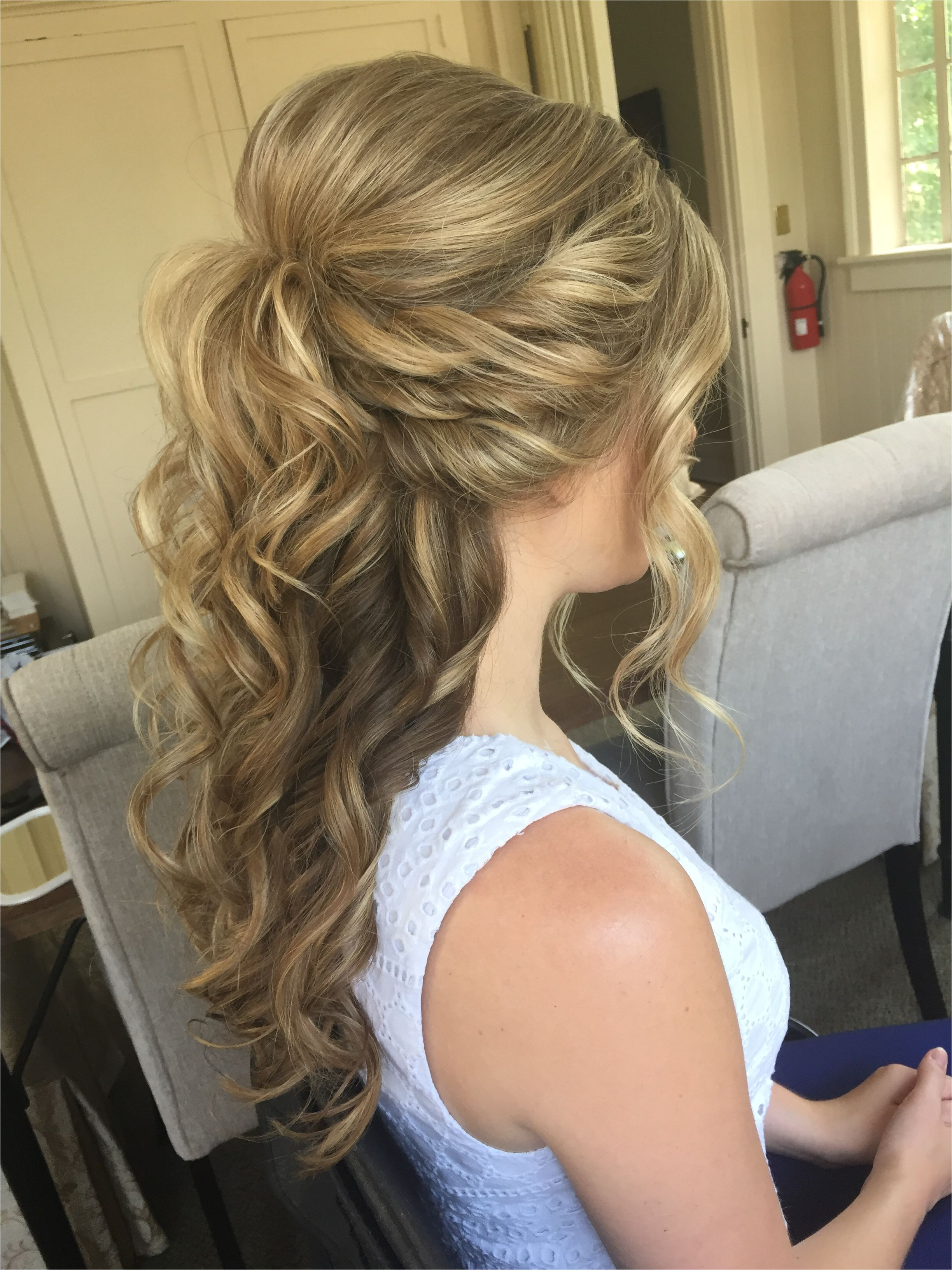Half Up Half Down Hairstyles Wedding Pinterest Luxury Pin Od Inside Half Updos for Medium Hair