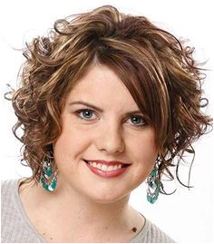What are the best short hair styles for fat women with curly hair We