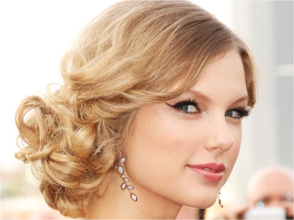 Side Curly Updo Hairstyle