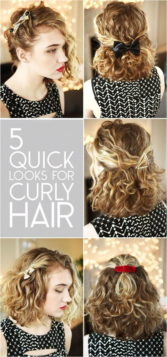5 quick look for curly hair Hair Pinterest