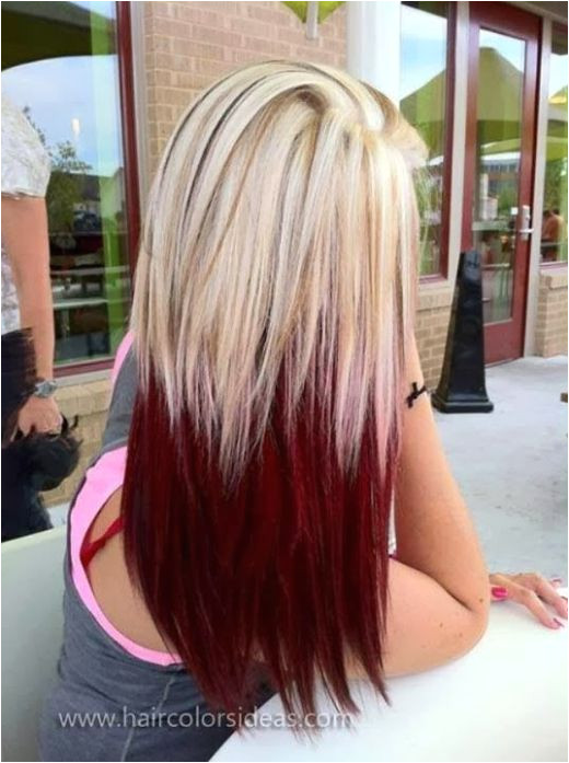 Ombre Hair Styles Via Two Tone Hair Colour Ideas to Dye For Ombre Hair Styles