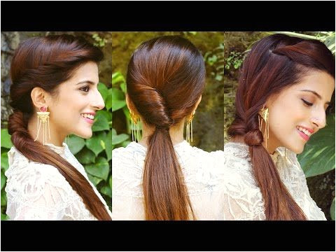 3 CUTE & EASY Ponytail Hairstyles For School College Work QUICK & EASY Hairstyles With Ponytails Hair Styles Pinterest