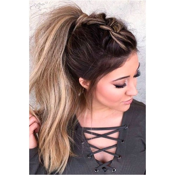 59 Easy Ponytail Hairstyles for School Ideas Hairstyle Haircut Today ❤ liked on Polyvore featuring hair