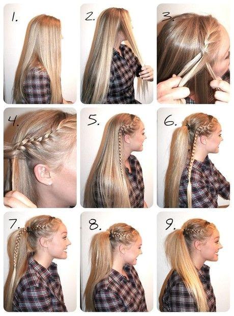 Der einfachste Weg Haare zu flechten High Ponytail Braid High Ponytail Tutorial Easy Hairstyles