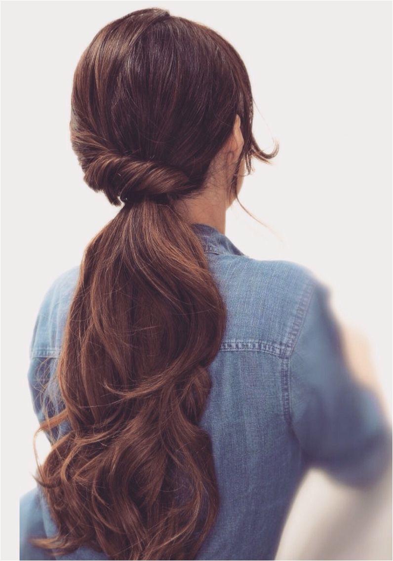 Twisted pony Easy Lazy Hairstyles Low Pony Hairstyles Easy Hairstyles For Medium Hair For