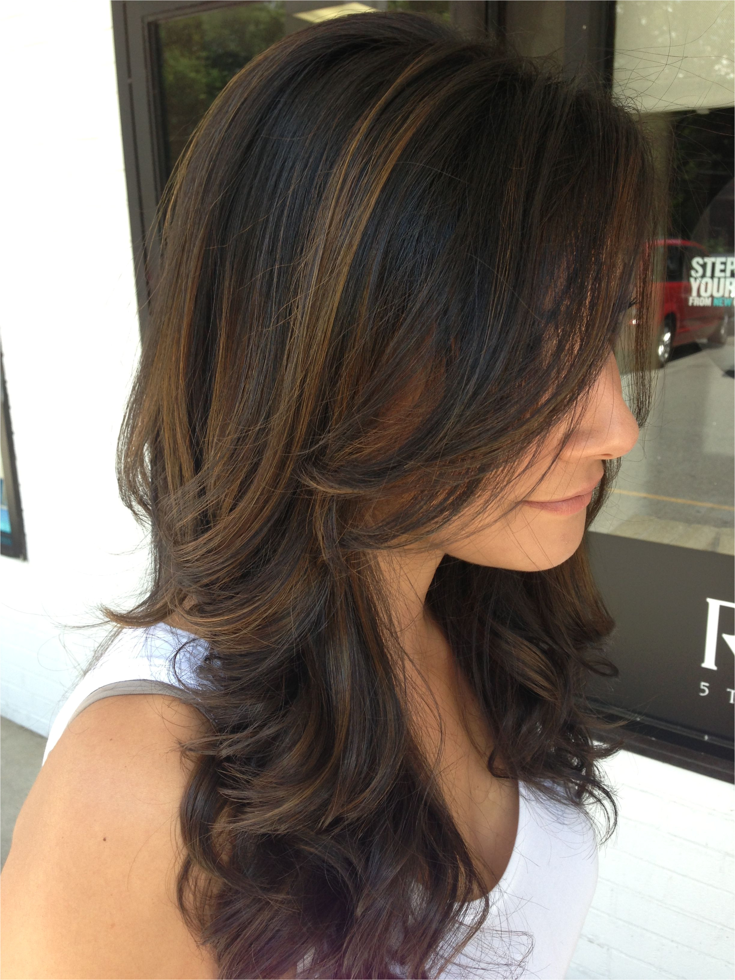 Light brown highlights salon877 work done by Clarissa
