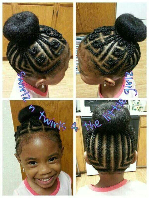 Cute braid style for a natural little girl