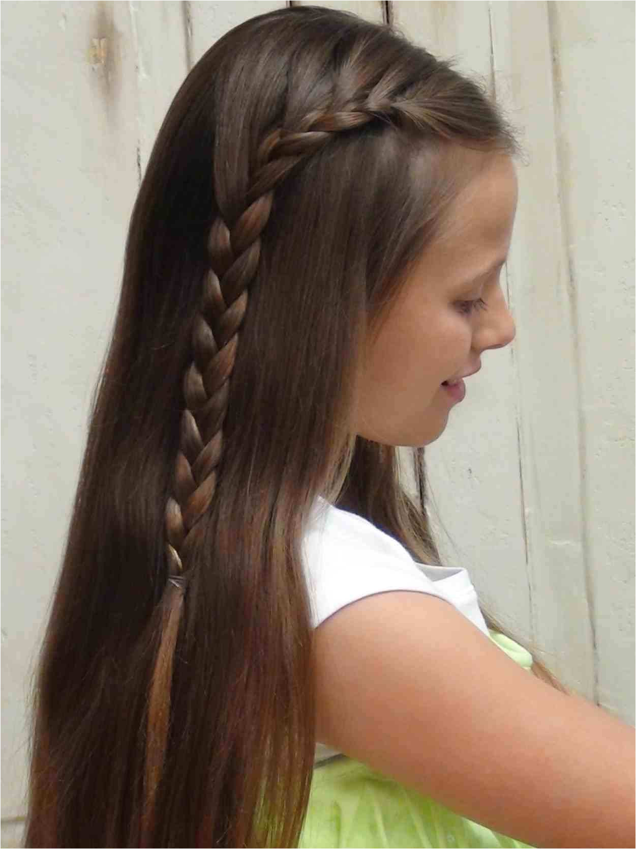 Cute Girl Hairstyles French Braid Awesome How To French Braid Short Hair Stock Easy Do It