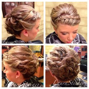 Cute Girl Hairstyles Headband Curls Wedding Updo with Headband Style Braid Volume at the Crown and