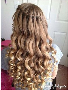 Little bit more formal but still cute for everyday Braided Prom Hair Curly Prom Hair