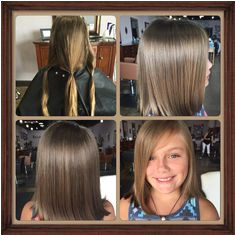 Thank you to our sweet client for donating hair to Children With Hair Loss Stylist Jackie at Salon Isis 1645 Market Place Blvd Cumming GA