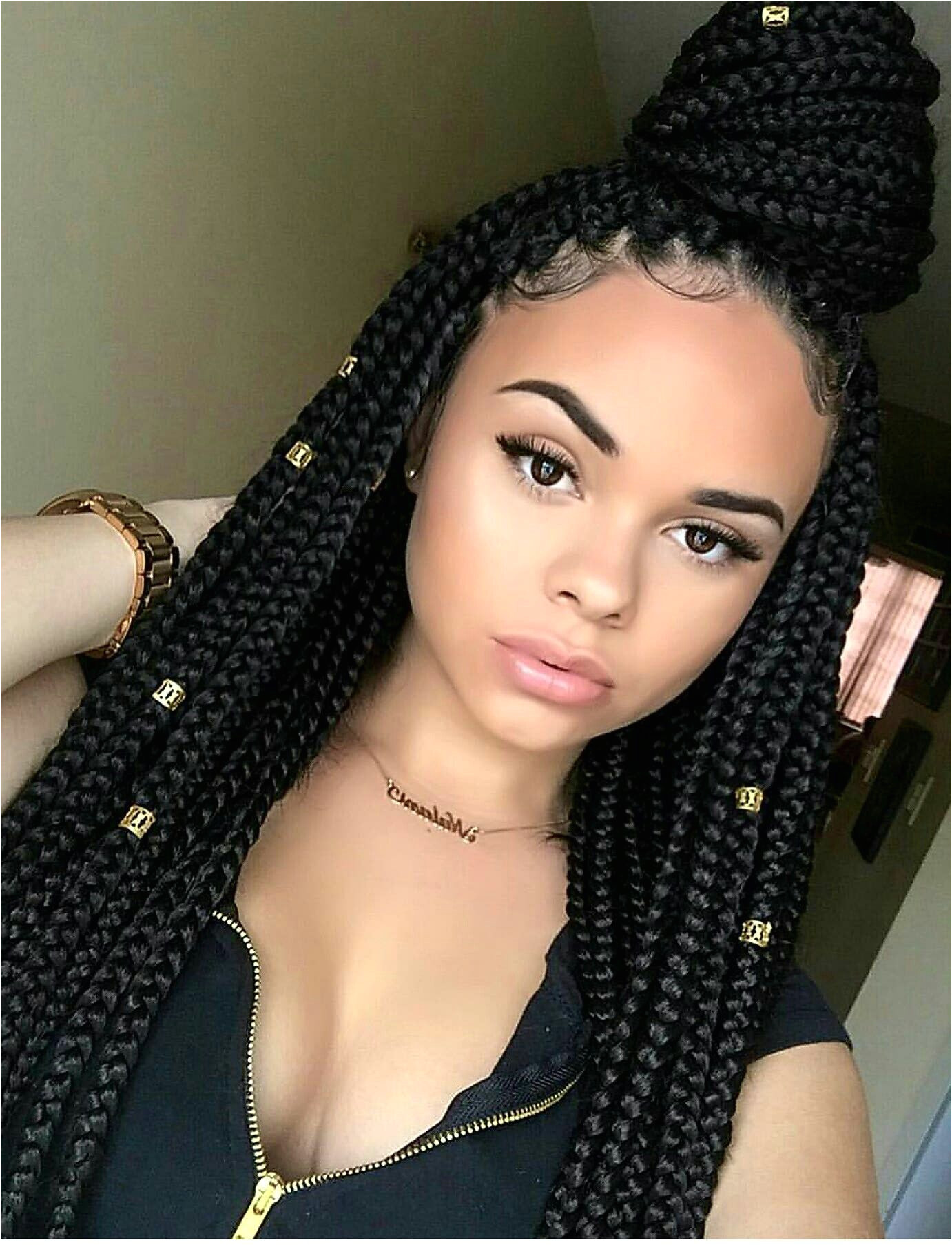 taraivia her ig is therealmami Box Braids Styling Hairstyles For Box Braids